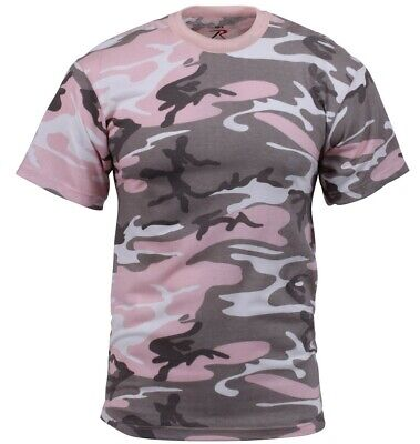 Pink Camouflage T-shirt (camo t-shirt subdued pink camouflage cotton poly blend rothco 8681 )