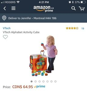 V-Tech alphabet activity cube
