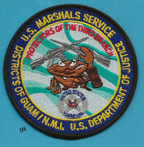 US MARSHAL  DEPARTMENT OF JUSTICE GUAM POLICE SHOULDER PATCH