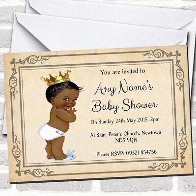Baby Boy Dark Skin Baby Shower Invitations - Baby Shower Boy Invitations