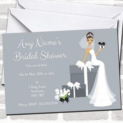 Bridal Party Invitations (Bride And Gifts Bridal Shower Party)