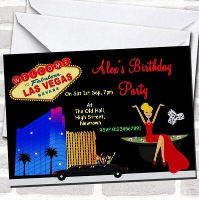 Casino Las Vegas Theme Birthday Party - Las Vegas Themed Birthday Invitations