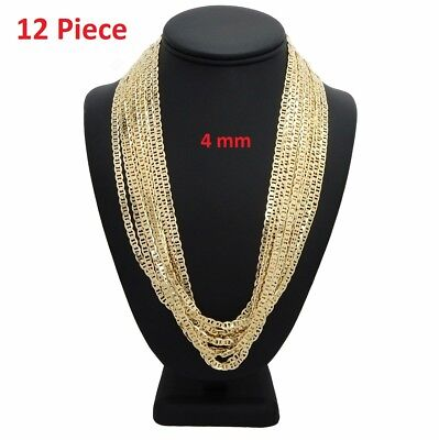 - 4mm 12 Piece Mariner Gucci Chain Necklace 20