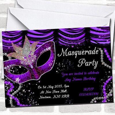 Purple & Black Mask Masquerade Ball Party