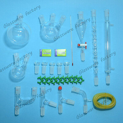New Advanced Chemistry Lab Glassware Kit2440 Ground Joint29pcslab Glass