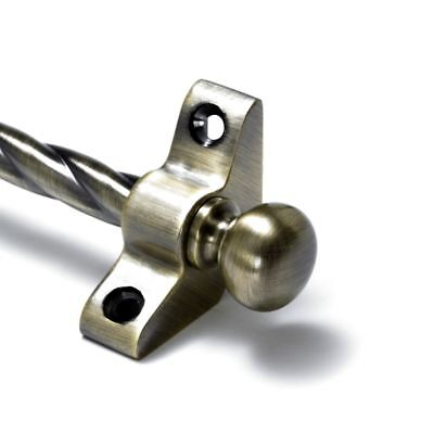 13 X Antique Brass Stair Rods - 3/8