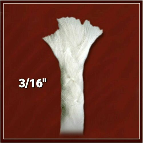 "3/16"" Fiberglass Replacement Oil Lamp Tiki Torch Candle Wick"