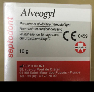 New Septodont Alveogyl Paste 10gm Dry Socket Treatment Dental Material Free Ship