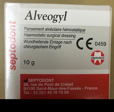 New Septodont Alveogyl Paste 10gm Dry Socket Treatment Dental Material