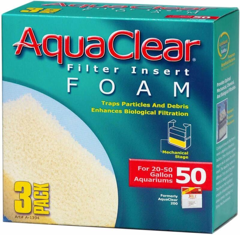 Aquaclear Foam Inserts, 3-Pack 50-Gallon Standard Packaging