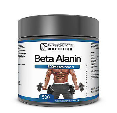 Beta Alanin 500 Kapseln je 500mg Aminosäure Mulkelaufbau Training Sport XXL Dose