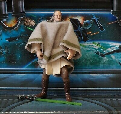 STAR WARS FIGURE POTJ 2000 COLLECTION QUI-GON JINN (MOS ESPA DISGUISE)