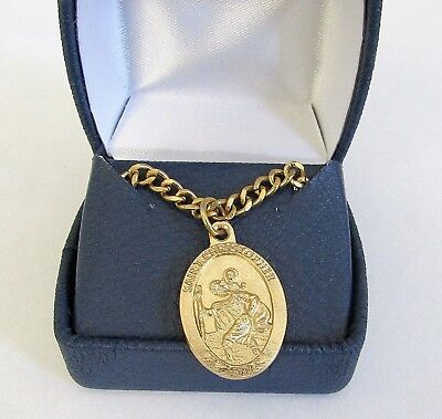 St Christopher Medal Pendant Necklace 24