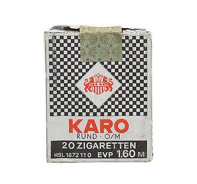 schöne alte orig. DDR Zigarettenschachtel KARO Zigaretten, ***Ostalgie pur***