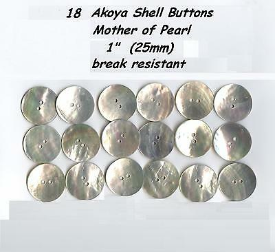 18 Akoya Shell Mother of Pearl Buttons 1