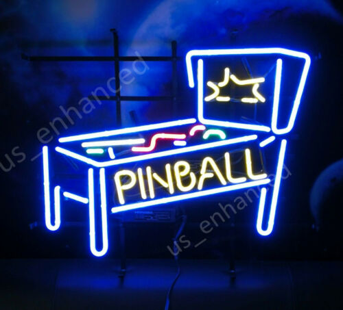 "New Pinball Game Room Bar Light Beer Neon Sign 17""x14"""