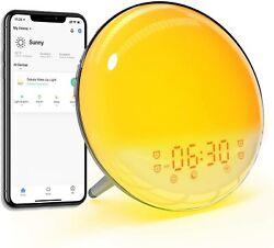 Sunrise SMART wake up digital alarm clock wifi control with phone or Alexa NEW