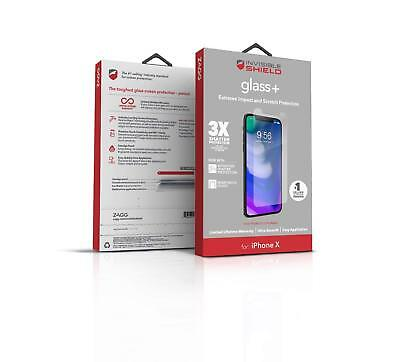 (ZAGG Invisible Shield Glass+ Tempered Screen Protector for Apple iPhone X)