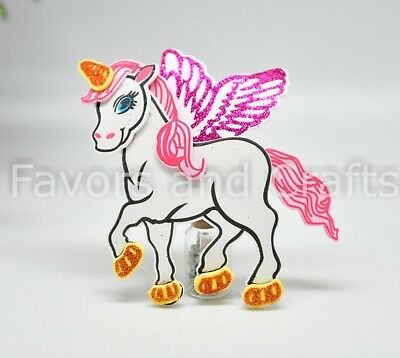 Unicorn Foam Favors Centerpiece Pink Decoration Unicornio Recuerdos 10 Pcs