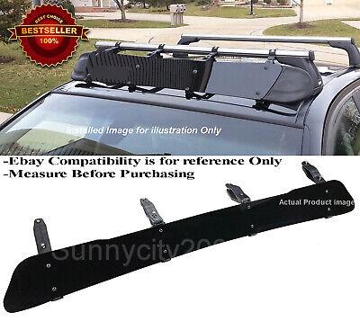 """Usado, 44""""x6"""" Black Roof Rack Wind Faring Deflector For Corss Bar Basket Fit VW Porsche comprar usado  Enviando para Brazil"""