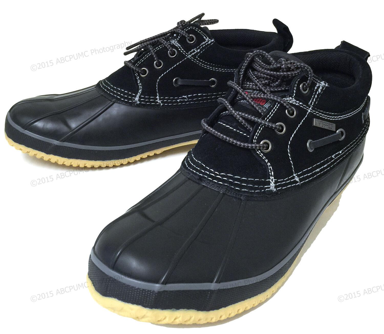 NIB Mens Short Duck Boots Suede Insulated Waterproof Rain Bo