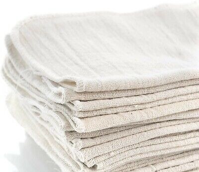 100 Industrial Shop Rags Cleaning Towels White Free 2 Day Shipping
