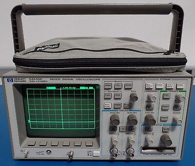 Hp Agilent 54645d Mixed Signal Oscilloscope 100 Mhz 200 Msas W Accessories