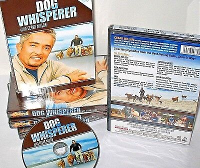 Dog Whisper,Cesar Millan DVD, Dog Training, Teach ,Guidance, Puppy ,5 Shows NEW!