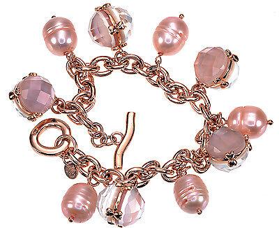 Honora Cultured Freshwater Pearl Rose Bronze Charm 8