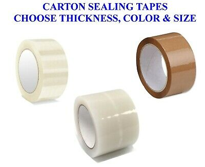 Carton Sealing Clear Brown Packing Tape 3 2 X 110 Yards Pick Your Rolls Mil