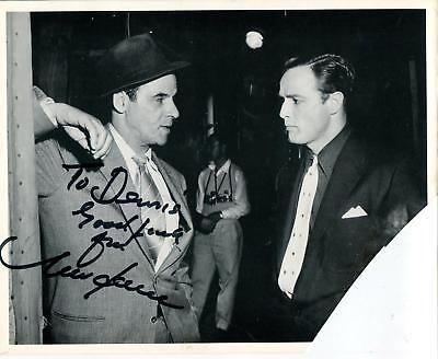 (MARC LAWRENCE GANGSTER / TOUGH GUY & STAR TREK ACTOR SIGNED PHOTO AUTOGRAPH)