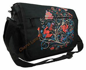 New Girls Womens Floral Pour Moi School College Laptop Flapover Messenger Bag
