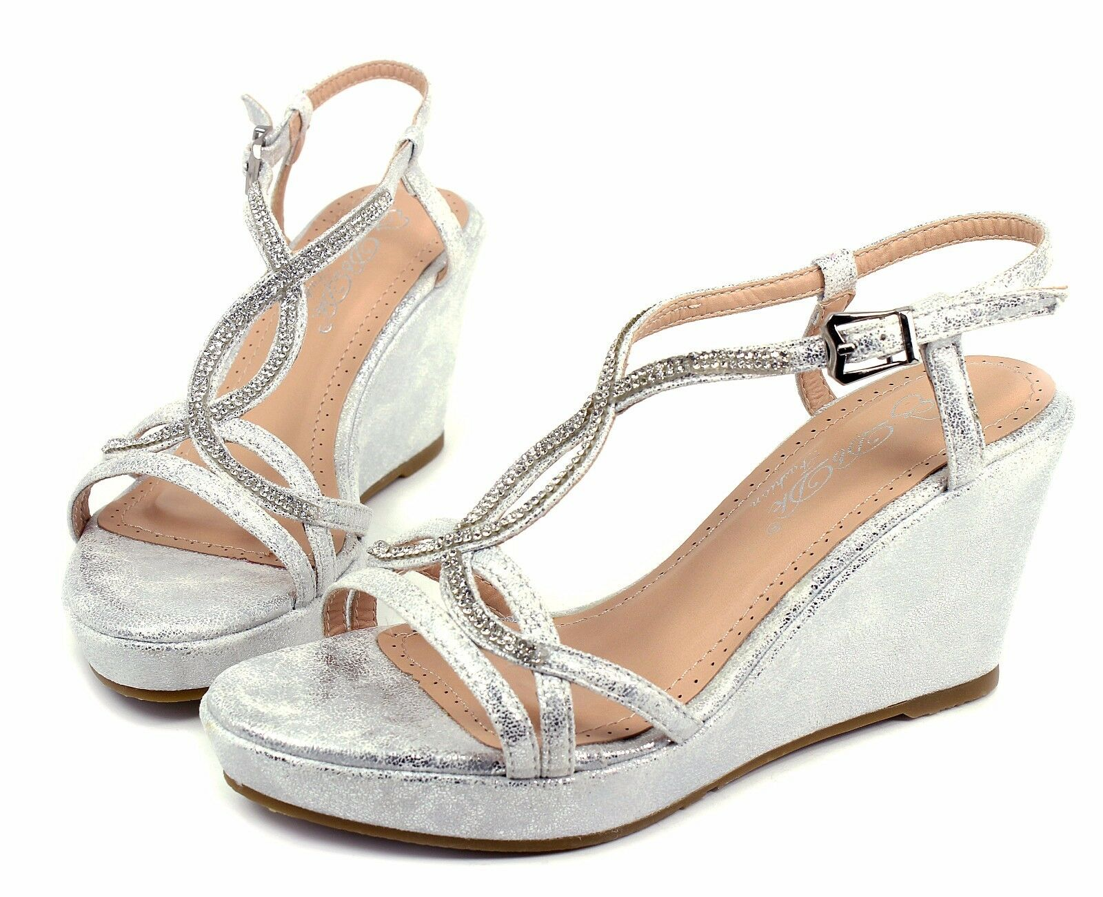 "MARIVE-5 Wedges Party Prom 3.2"" inch High Heel 1"" Platform W"