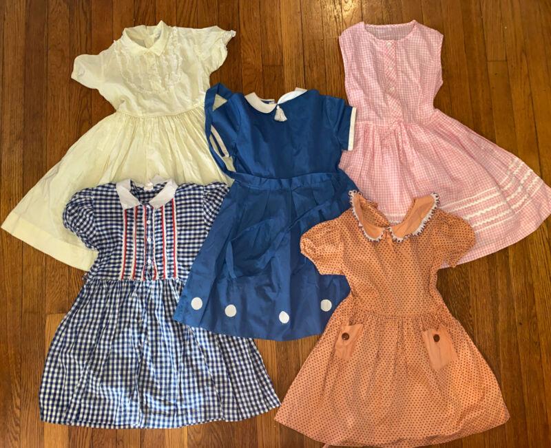 Vintage Child Girl 1950s 1960s Dress Lot