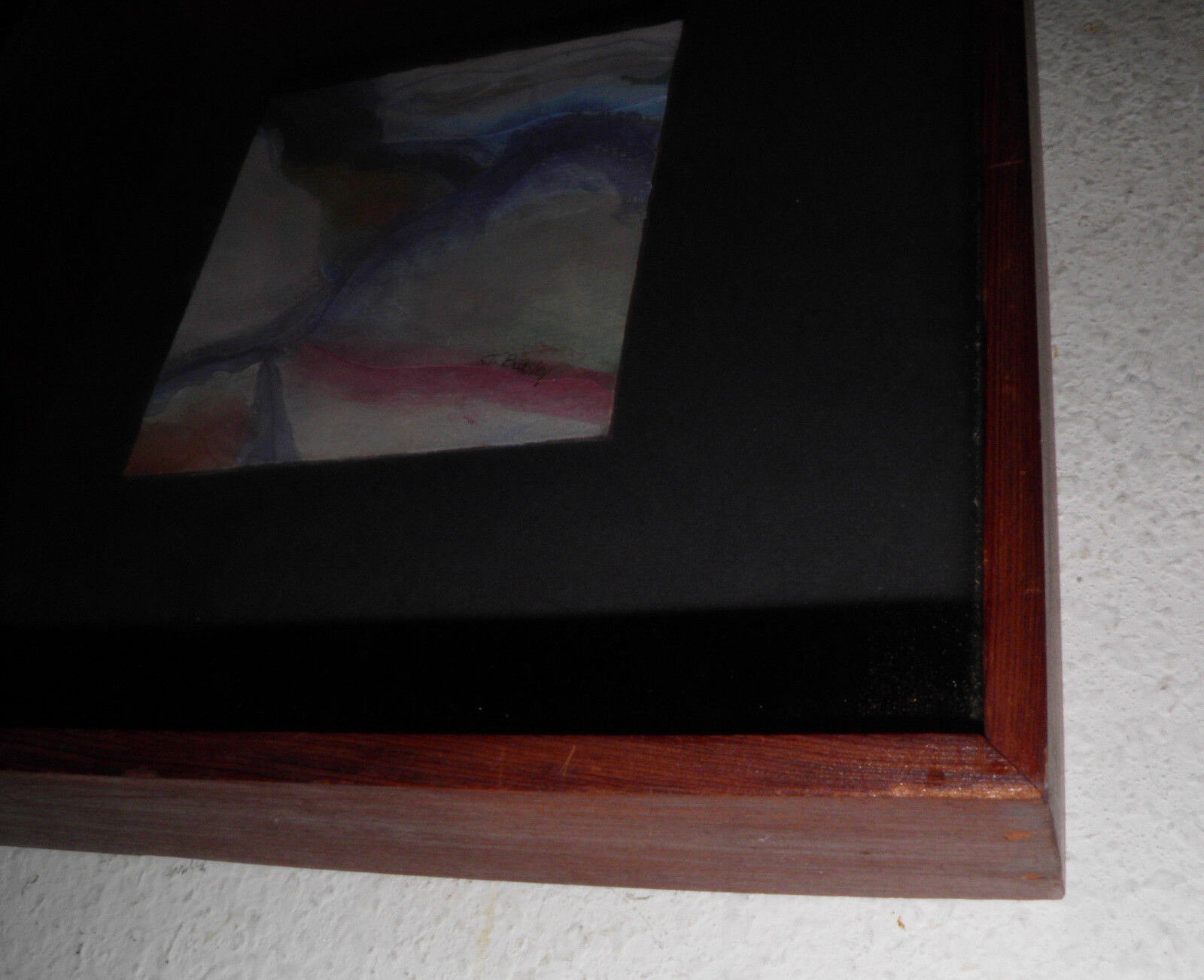 MODERN 1978 ABSTRACT ART SMALL PAINTING SIGNED J.Beasley 11x11 Buy It Now Save  - $48.84