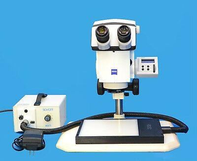Zeiss Discovery V.12 Trinocular Stereo Microscope 454001 Cold Light Kit