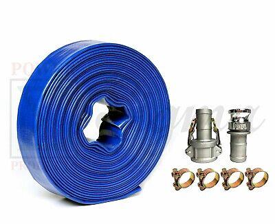 Sigma 1-12 1.5 Inch X 300 Feet Pvc Lay Flat Pump Discharge Hose Camlocks