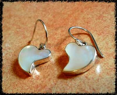 MOTHER of PEARL EAR RINGS.. FREE POSTAGE West Perth Perth City Preview