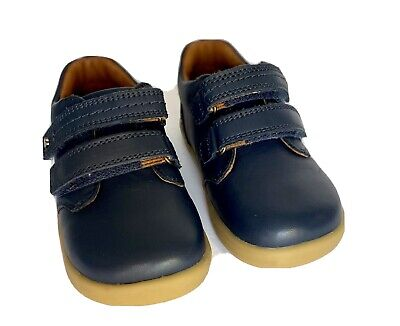 Bobux PORT I-Walk Blue Leather Hook Loop Toddler Shoes Sz 8.5 US / 25 EU