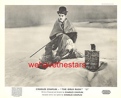 Vintage Charlie Chaplin THE GOLD RUSH British FOH Photo