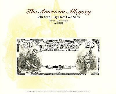 1902 $10.00 Long Beach California National B228 1997 B E .P Souvenir Card
