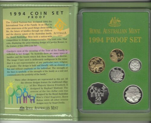 1994 ROYAL AUSTRALIAN MINT YEAR OF THE FAMILY ROYAL AUSTRALIAN MINT