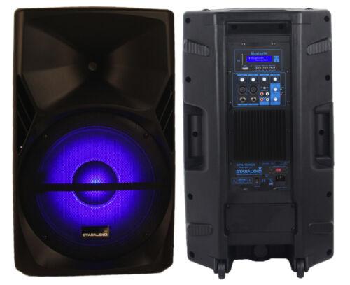 "STARAUDIO 15"" 3500W Powered Active DJ Stage PA Speaker Karaoke LED Light Speaker"