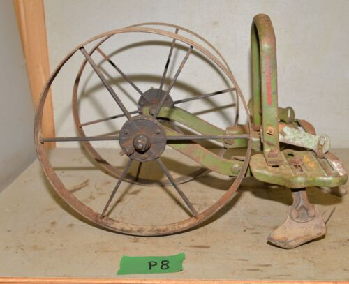 Antique Planet Jr cultivator double 5 tine hoe wheel garden tool collectible  P8