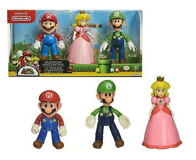 World of Nintendo MUSHROOM KINGDOM PACK (3 Action Figures) Super Mario 4""