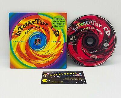 PS1 Playstation 1 - Interactive CD Sampler Pack Volume 3 V3.5 TEKKEN 2 BANDICOOT