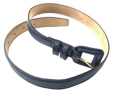 Square Covered Buckle Belt (Harken Ltd Dark Blue Leather Belt Leather Covered Square Buckle Size)