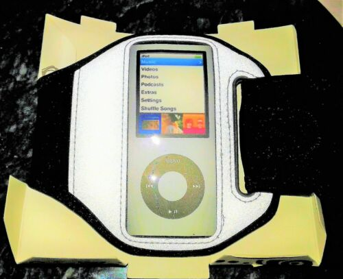 Tech Accessory Sport Armband Audio IPod Nano 4G BLACK-Band Clear Plastic Cover