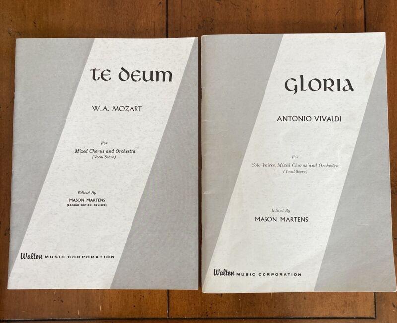 Vocal Score For Gloria-Antonio Vivaldi ,The Deum- W.A. Mozart Chorus +Orchestra