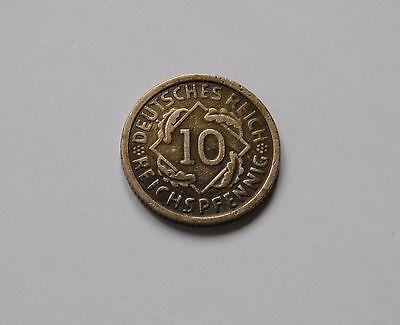 WEIMAR: 10 Reichspfennig 1928 G, J. 317, sehr schön, SELTEN !!!